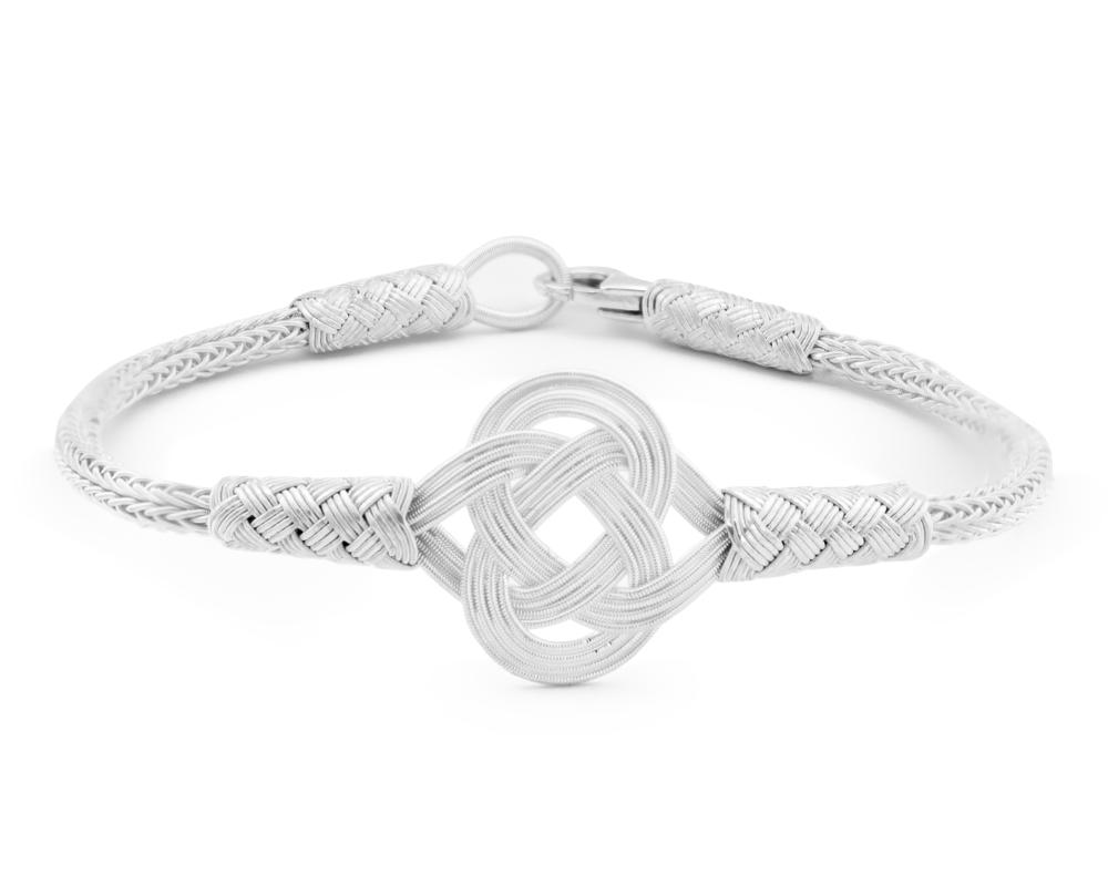 1000 Ayar Gümüş Beyaz Zarif Kazaz El Örmesi Bileklik