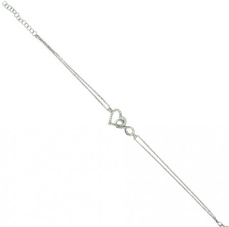 925 Ayar Gümüş Zirkon Taşlı Bileklik - Thumbnail