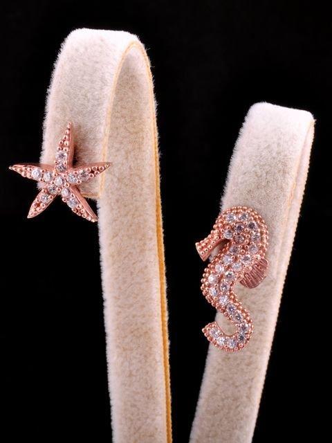 Denizatı Deniz Yıldızı Rose Küpe