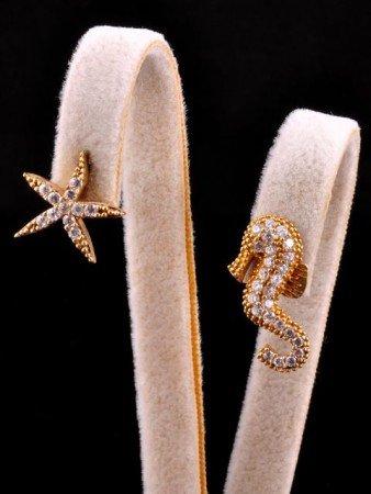 Denizatı Deniz Yıldızı Sarı Küpe - Thumbnail