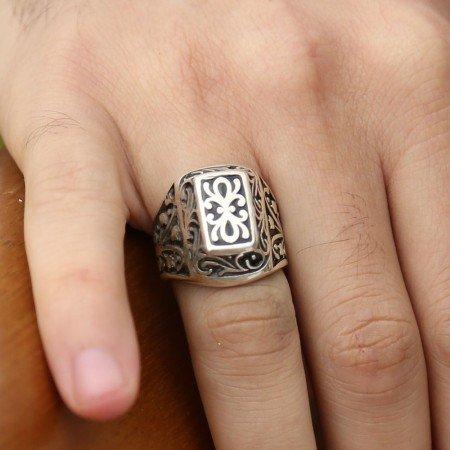 Lisanslı 925 Ayar Gümüş Kurtlar Vadisi Yüzüğü - Thumbnail
